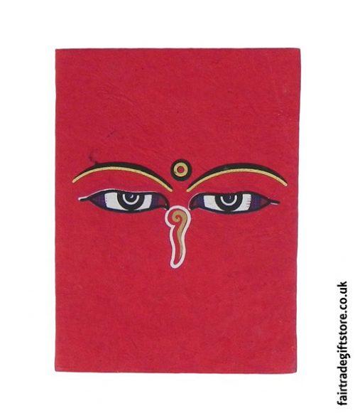 Fair-Trade-Lokta-Paper-Notebook-Red-Buddha-Eyes