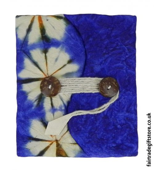 Fair-Trade-Lokta-Paper-Notebook-Tie-Dye-Blue
