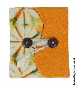 Fair-Trade-Lokta-Paper-Notebook-Tie-Dye-Orange