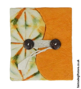 Fair-Trade-Lokta-Paper-Notebook-Tie-Dye-Orange