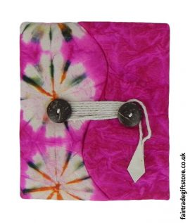 Fair-Trade-Lokta-Paper-Notebook-Tie-Dye-Pink