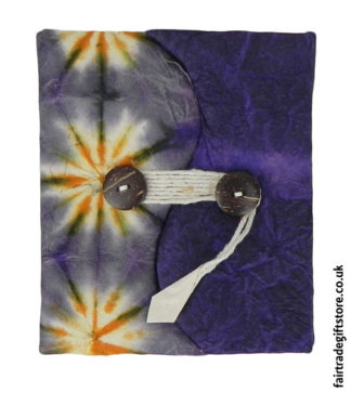 Fair-Trade-Lokta-Paper-Notebook-Tie-Dye-Purple