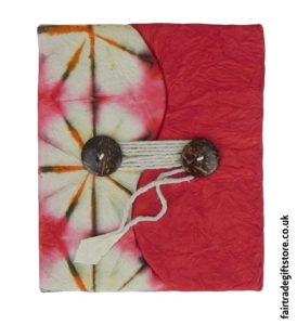 Fair-Trade-Lokta-Paper-Notebook-Tie-Dye-Red