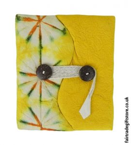 Fair-Trade-Lokta-Paper-Notebook-Tie-Dye-Yellow
