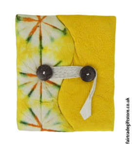 Fair-Trade-Lokta-Paper-Notebook-Tie-Dye-Yellow