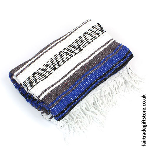 Fair-Trade-Mexican-Falsa-Rug-blanket-Blue