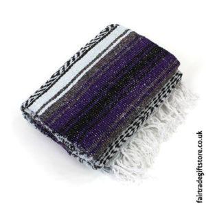 Fair-Trade-Mexican-Falsa-Rug-blanket-Purple
