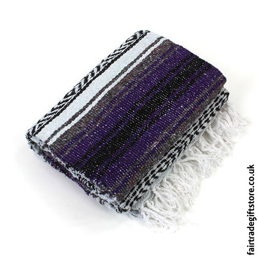 Fair-Trade-Mexican-Falsa-Rug-blanket-Purple