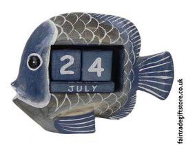 Fair-Trade-Wooden-Calendar-Blue-Fish