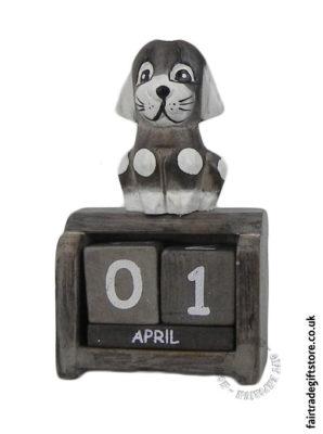 Fair-Trade-Wooden-Calendar-Spotty-Dog
