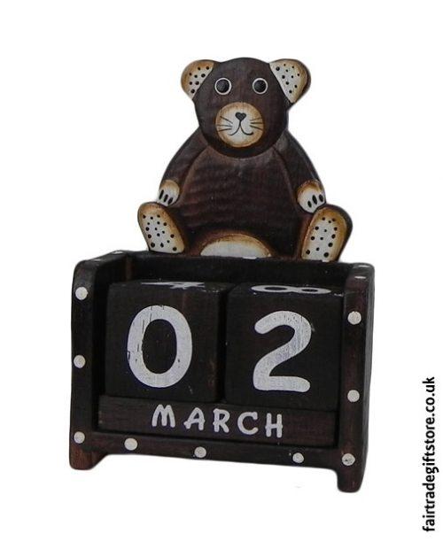 Fair-Trade-Wooden-Calendar-Teddy-Bear