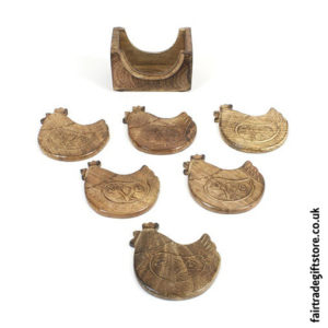 Fair-Trade-Wooden-Coasters-Chicken
