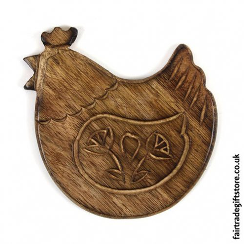Fair-Trade-Wooden-Coasters-Chicken-single