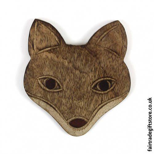 Fair-Trade-Wooden-Coasters-Fox-single