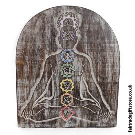 Fair-Trade-Wooden-Wall-Plaque-Chakra-Meditation