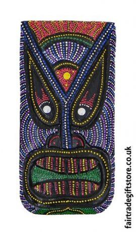 Fair-Trade-Wooden-Wall-Plaque-Colourful-Tiki-Face-2
