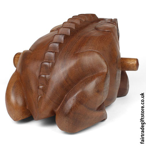 Fair-Trade-Güiro-Croaking-Wooden-Frog-Back