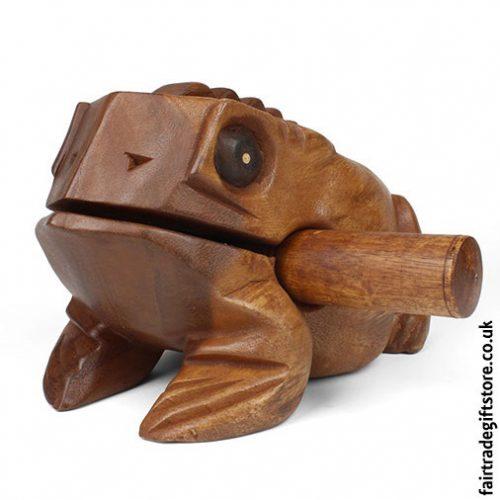 Fair-Trade-Güiro-Croaking-Wooden-Frog-LargeGüiro-Croaking-Wooden-Frog-Large