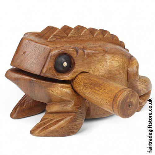 Fair-Trade-Güiro-Croaking-Wooden-Frog-Medium