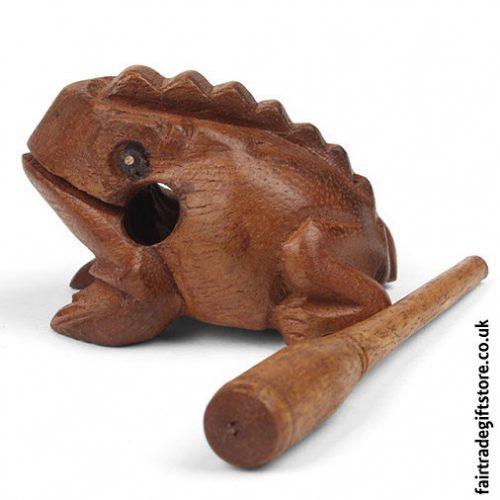 Fair-Trade-Güiro-Croaking-Wooden-Frog-With-Stick