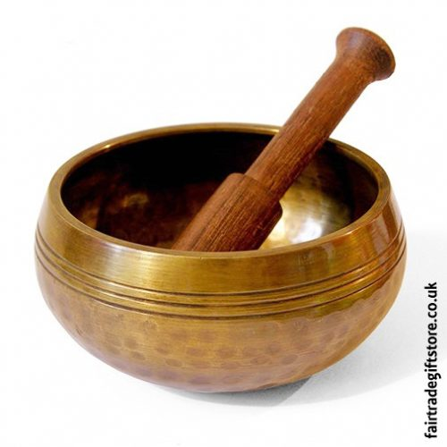 Fair-trade-Hand-Beaten-Brass-Mountain-Singing-Bowl-Medium