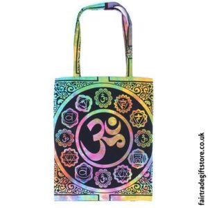Fair Trade Reusable Shopping Tote Bag - Multicoloured Om