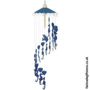 Fair-Trade-Saa-Paper-Mobile-with-Bells-Blue-Sea-Horses