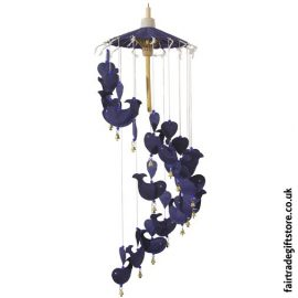Fair-Trade-Saa-Paper-Mobile-with-Bells-Blue-Whale