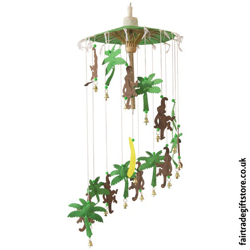 Fair-Trade-Saa-Paper-Mobile-with-Bells-Monkeys
