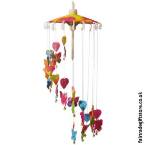 Fair-Trade-Saa-Paper-Mobile-with-Bells-Multicolour-Butterflies