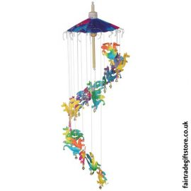 Fair-Trade-Saa-Paper-Mobile-with-Bells-Multicolour-Dragons