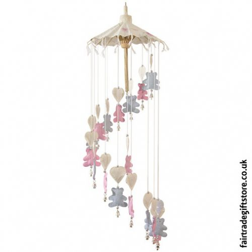 Fair-Trade-Saa-Paper-Mobile-with-Bells-Teddy-Bears