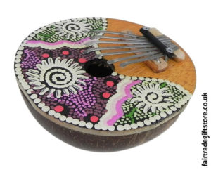 Fair-Trade-Thumb-Piano-Painted-Coconut