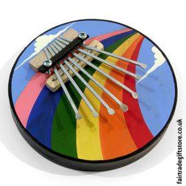 Fair-Trade-Thumb-Piano-Round-Rainbow-Painted