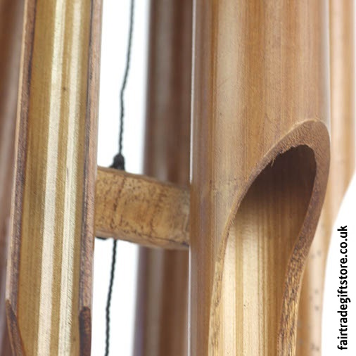 Fair Trade Windchime - Bamboo Medium - Detail