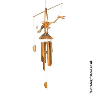 Fair Trade Windchime - Bamboo and Coconut - Nodding Dragon