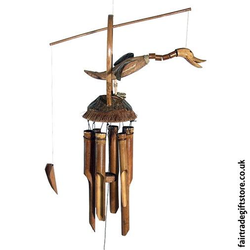 Fair Trade Windchime - Bamboo and Coconut - Nodding Duck