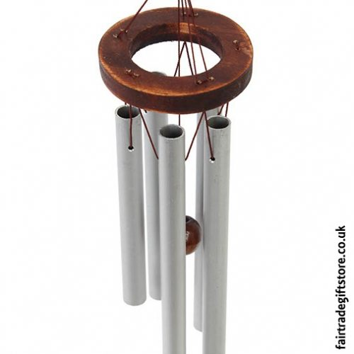 Fair Trade Windchime - Metal & Wood - Close up
