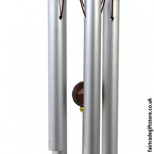 Fair Trade Windchime - Metal & Wood - Detail