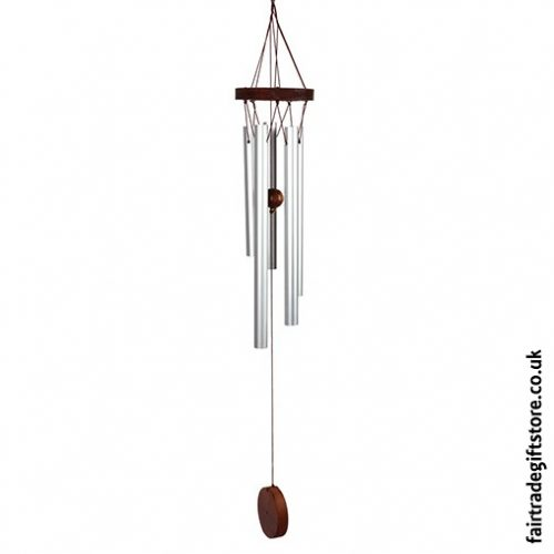 Fair Trade Windchime - Metal & Wood - Small