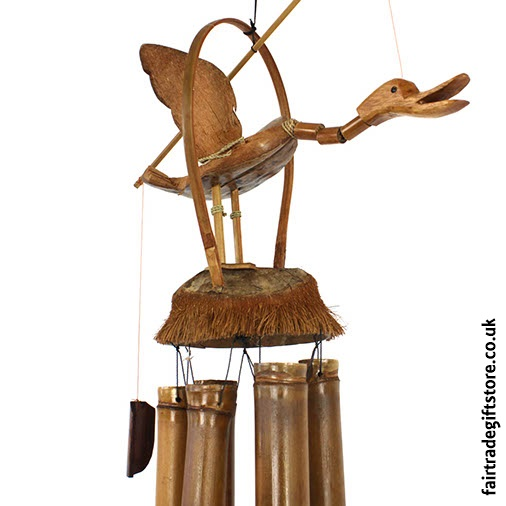 Fair Trade Windchime - Nodding Duck - Detail