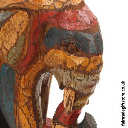 Fair Trade Wooden Bookends - Detail