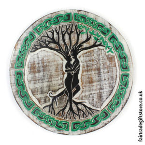 Fair-Trade-Wooden-Wall-Plaque-Round-Tree-Couple