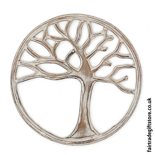 Wooden-Wall-Plaque-Round-White-Tree-of-Life