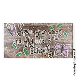 Fair-Trade-Wooden-Wall-Plaque-Spread-your-wings