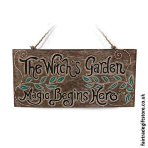 Fair-Trade-Wooden-Wall-Plaque-The-Witch's-Garden