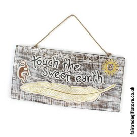 Fair-Trade-Wooden-Wall-Plaque-Touch-the-Sweet-Earth