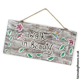 Fair-Trade-Wooden-Wall-Plaque-Walk-in-Beauty