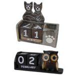 Fair Trade Desk Calendars - Wooden Calendars