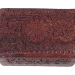 Fair Trade Trinket Box - Carved Cashmiri Box